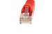 CAT6 Shielded Ethernet Patch Cable, Booted, 25ft, Red