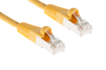 CAT6 Shielded Ethernet Patch Cable, Booted, 1ft, Yellow