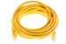 CAT6 Ethernet Patch Cable, Booted, 20ft, Yellow