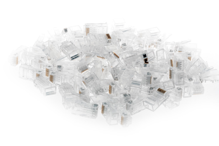 RJ45 Cat6 Modular Plugs/Connectors - Qty 100