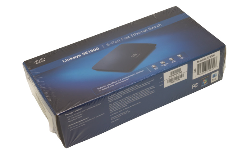 Linksys 5-Port 10/100 Ethernet Switch, SE1500, NEW