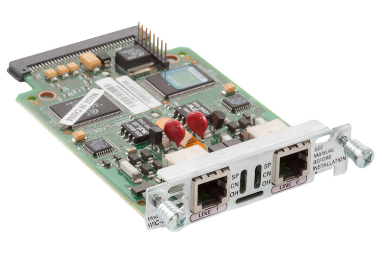 Cisco 2 Port Analog Modem Interface Card, WIC-2AM
