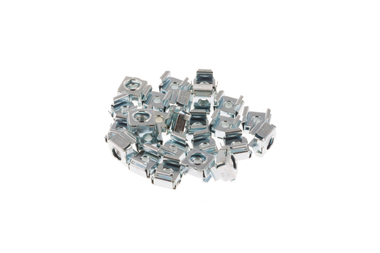 Rack Mount Cage Nuts, 12-24, Qty 20