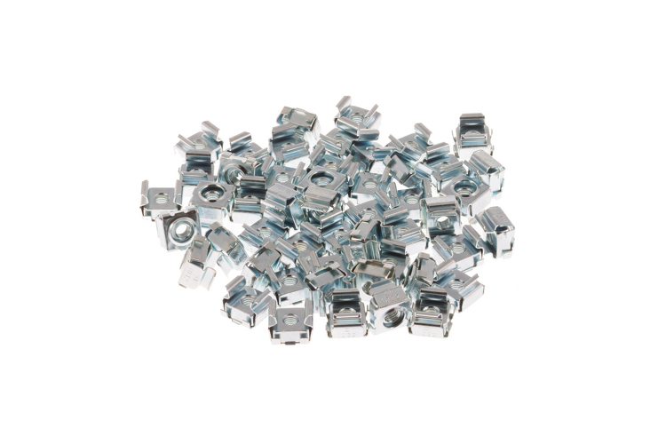 Rack Mount Cage Nuts, 12-24, Qty 50