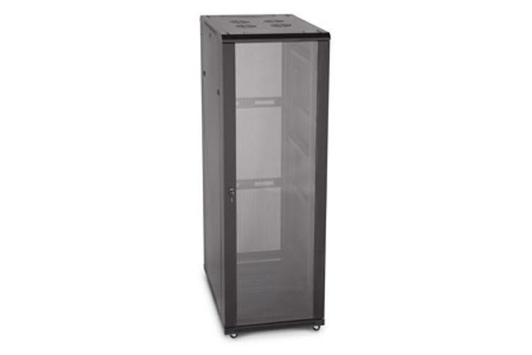 "LINIER 37U 19"" Cabinet with Glass Front and Vented Rear Doors"