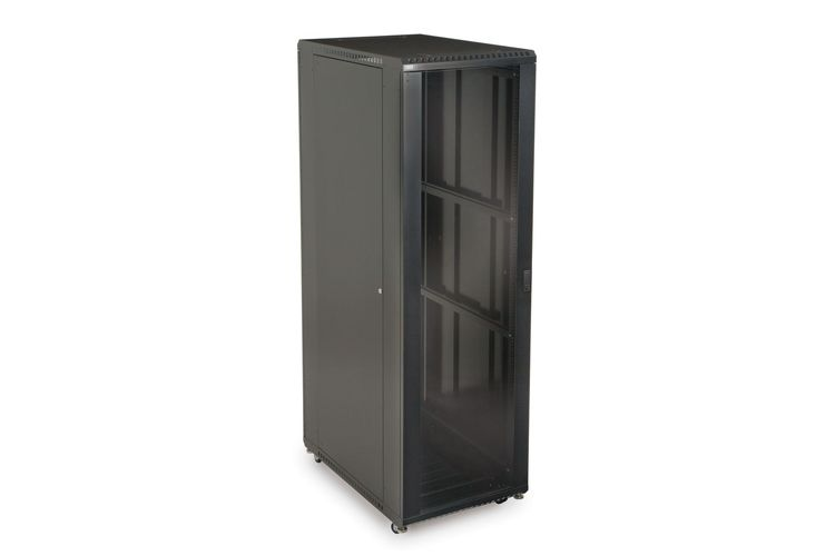 "42U LINIER Server Cabinet - Glass/Solid Doors - 36"" Depth"