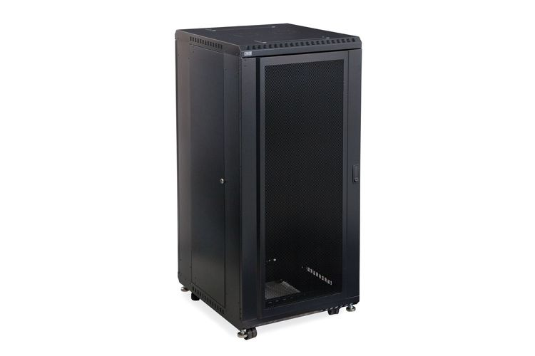 "27U LINIER Server Cabinet - Convex/Glass Doors - 24"" Depth"