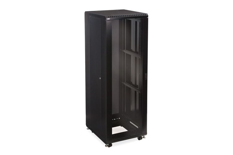 "37U LINIER Server Cabinet - Glass/Glass Doors - 24"" Depth"