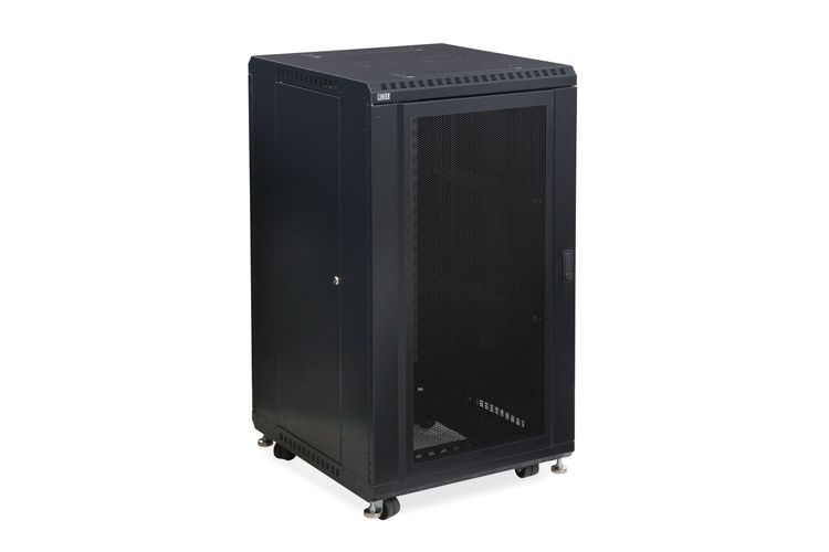 "22U LINIER Server Cabinet - Convex/Convex Doors - 24"" Depth"