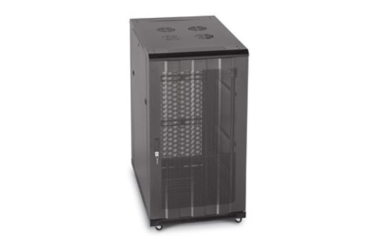 "LINIER 22U 19"" Cabinet with Vented Front and Rear Doors"