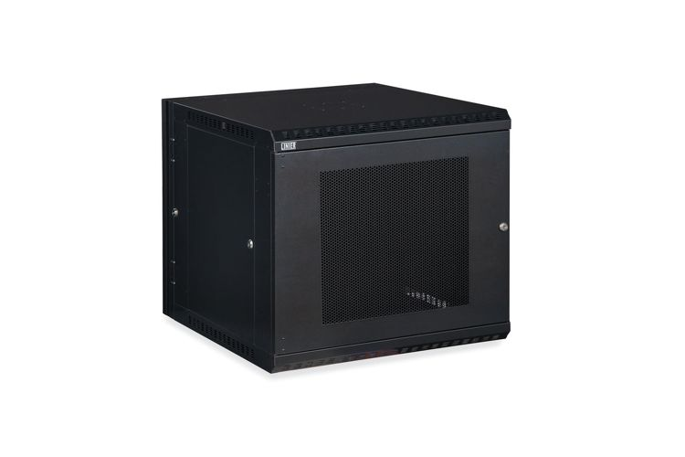 12U LINIER Swing-Out Wall Mount Cabinet - Vented Door