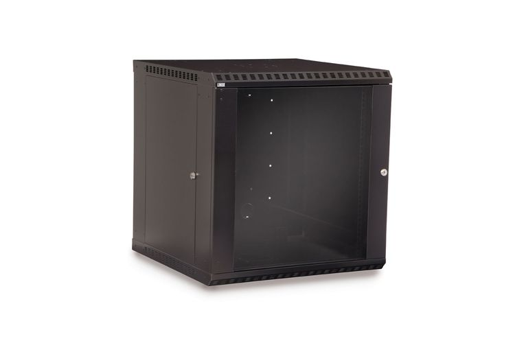 "LINIER 12U 19"" Wall Mount Cabinet with Glass Door"
