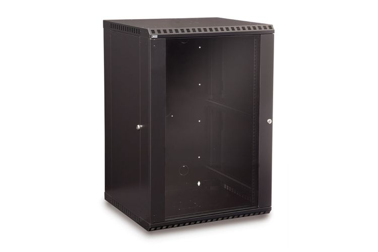 "LINIER 18U 19"" Wall Mount Cabinet with Glass Door"