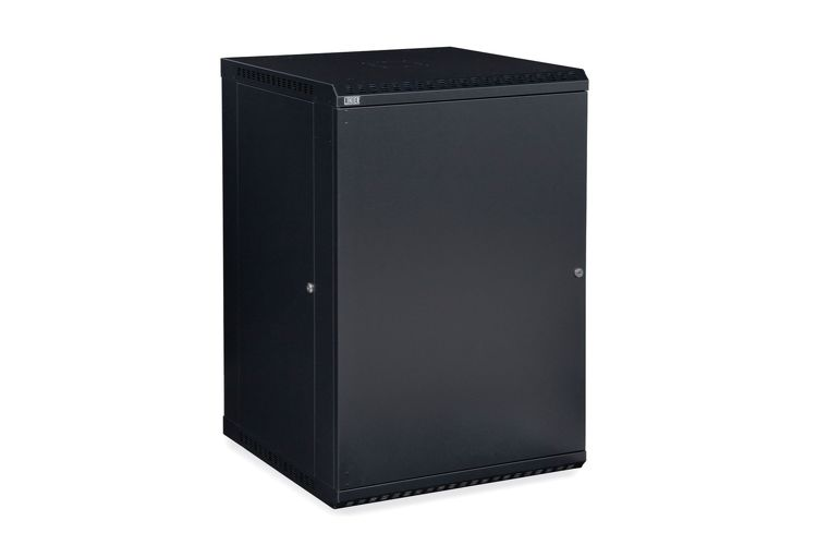 18U LINIER Fixed Wall Mount Cabinet - Solid Door