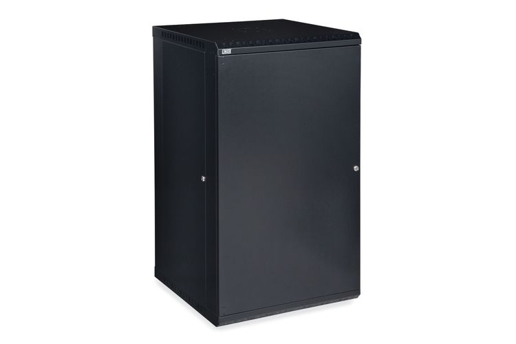 22U LINIER Fixed Wall Mount Cabinet - Solid Door