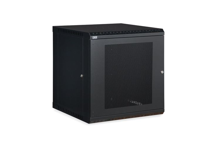 12U LINIER Fixed Wall Mount Cabinet - Vented Door