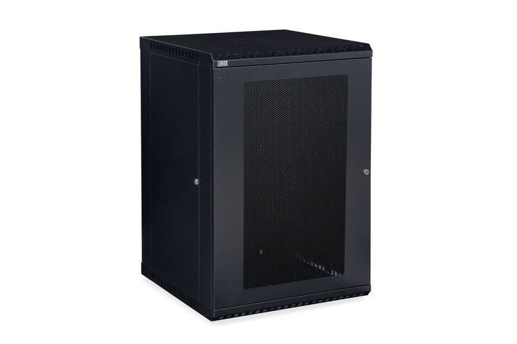 18U LINIER Fixed Wall Mount Cabinet - Vented Door