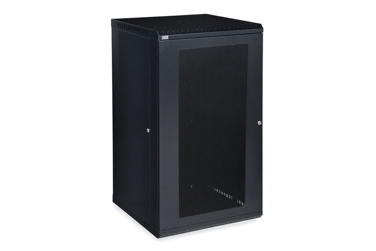 22U LINIER Fixed Wall Mount Cabinet - Vented Door