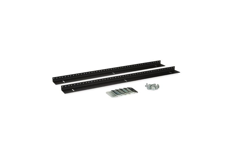 LINIER | 15U Wall Mount Vertical Rail Kit | 10-32 Tapped