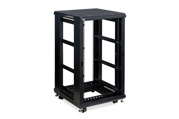 "22U LINIER Server Cabinet - No Doors/No Side Panels - 24"" Depth"