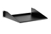 "19"" Rack Mount Shelf, Cantilever, Black"