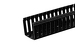 Gruber 6' Cable Management End Mount Channel, Black