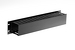 "19"" 2RU Rack Mount Channel Cable Management Panel, Black"