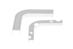 Cable Raceway Inside Corner Elbow, White, 0.75""