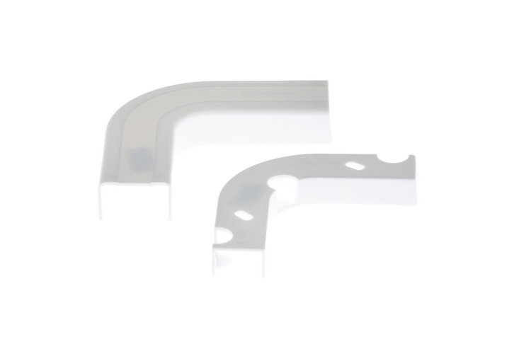Cable Raceway Inside Corner Elbow, White, 1.25""
