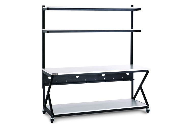 "Kendall Howard 72"" Work Bench With Upper and Full Bottom Shelf"