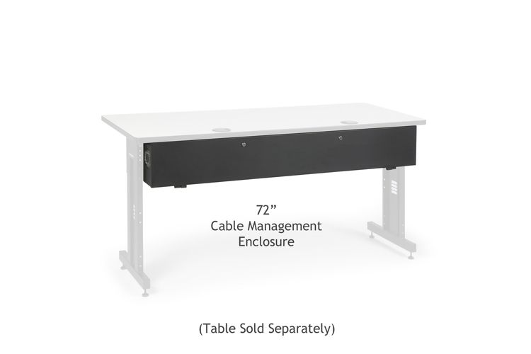 "72"" Training Table Cable Management Enclosure"
