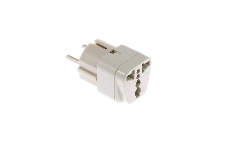 european schuko cee 7 7 to universal power plug adapter lifetime warranty ebay. Black Bedroom Furniture Sets. Home Design Ideas
