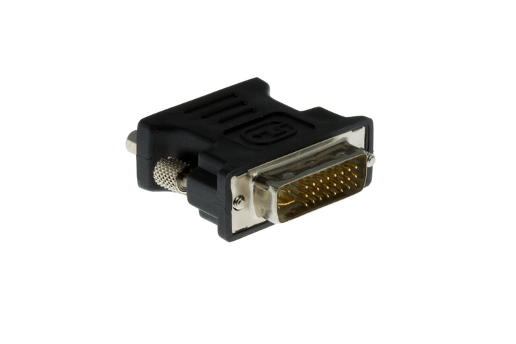 DVI-I (Dual Link) Male to VGA (HD-15) Female Adapter