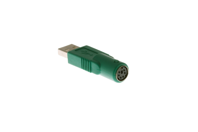 PS/2 Female Mouse To USB-A Male Port Adapter