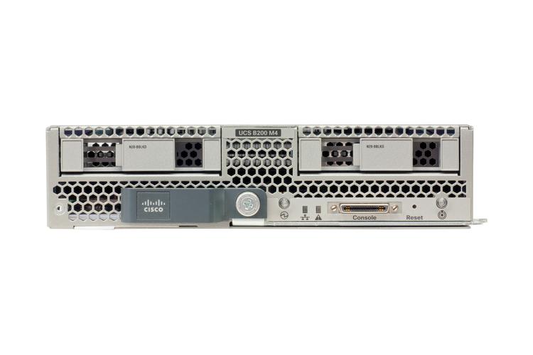 Cisco B200 M4 Server Blade with (2) Intel E5-2640v3, 128GB RAM, (2) 300GB  10K HDD