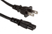 AC Power Cord, 1-15P to C7, 18 AWG, 3ft