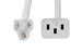AC Power Cord, 5-15P to C15, 14 AWG, 10ft, White
