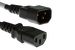 AC Power Cord, C13 to C14, 18 AWG, 2ft, Black