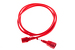 AC Power Cord, C13 to C14, 18 AWG, 6ft, Red