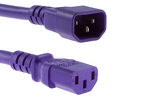 AC Power Cord, C13 to C14, 18 AWG, 10ft, Purple