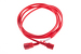 AC Power Cord, C13 to C14, 18 AWG, 10ft, Red