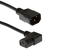 AC Power Cord, C13 Right Angle to C14, 18 AWG, 3ft