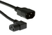 AC Power Cord, C13 Right Angle to C14, 18 AWG, 6.5ft