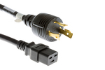AC Power Cord, L5-30P to C19, 12 AWG, 8ft