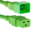 AC power cord, C20 to C19, 12 AWG 2ft, Green
