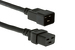 AC Power Cord, C20 to C19, 12 AWG, 2ft Black