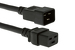 AC Power Cord, C20 to C19, 12 AWG, 3ft Black