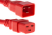 AC power cord, C20 to C19, 12 AWG, 4ft, Red