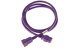AC power cord, C20 to C19, 12 AWG, 6ft, Purple