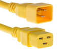 AC power cord, C20 to C19, 12 AWG, 10ft, Yellow